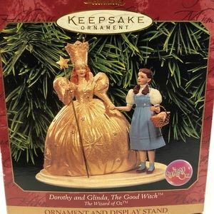 Dorthy and Glinda, Wizard of Oz ornaments
